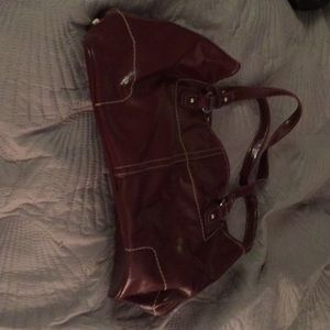 Burgundy/dark red purse